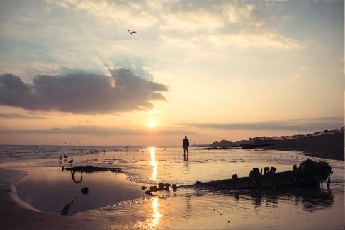 Alkam Hassan - Low Tide - Brighton Beach
